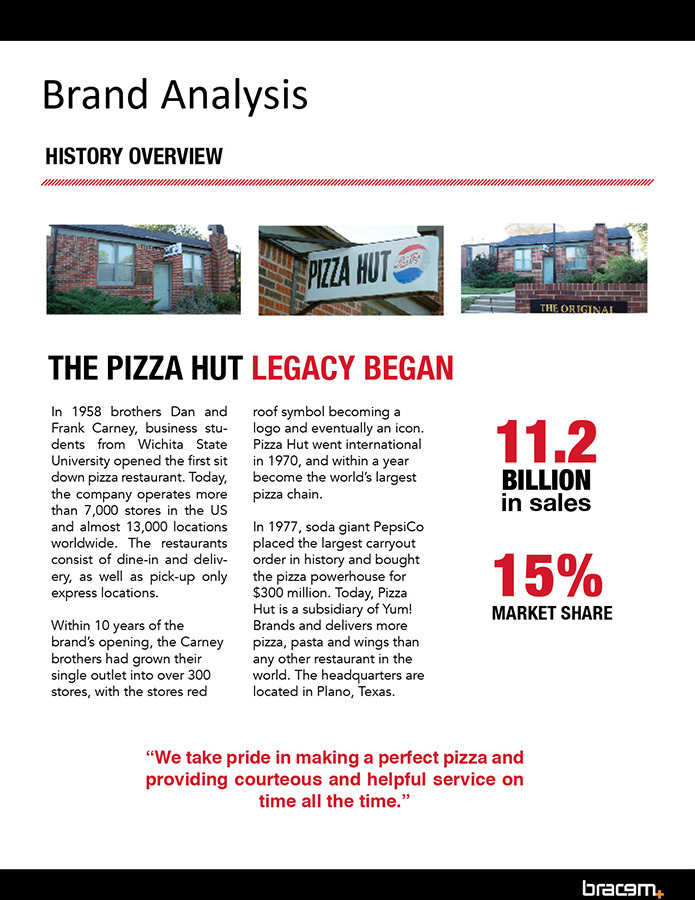 summary of pizza hut study Executive summary pepe's pizza is a pizza shop owned by angel shahrouk opening on the 31st  pizza hut had to study the complex history of brazilian economy and.