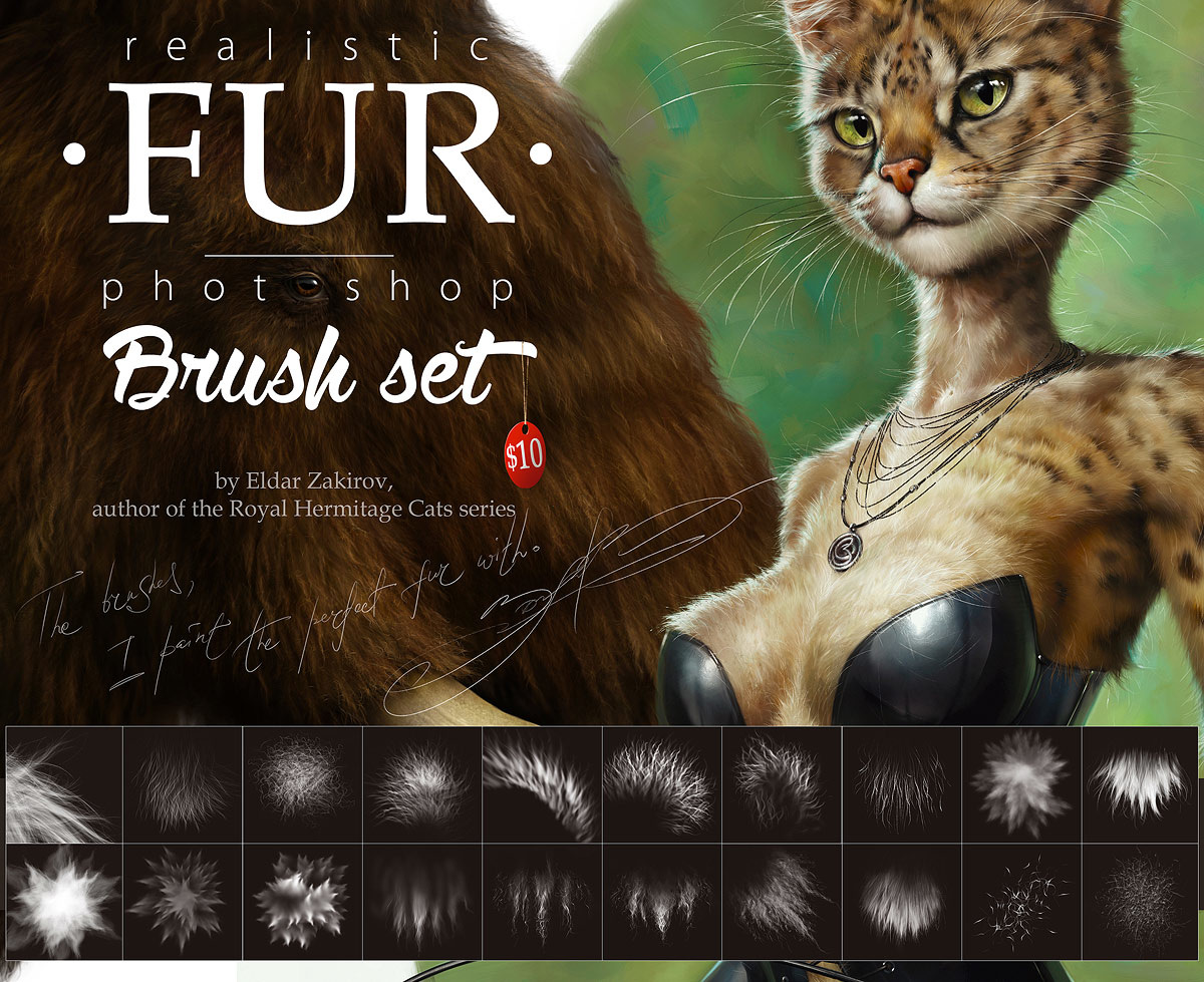 •FUR Brush Set• For realistic fur. 20 excellent brushes ...
