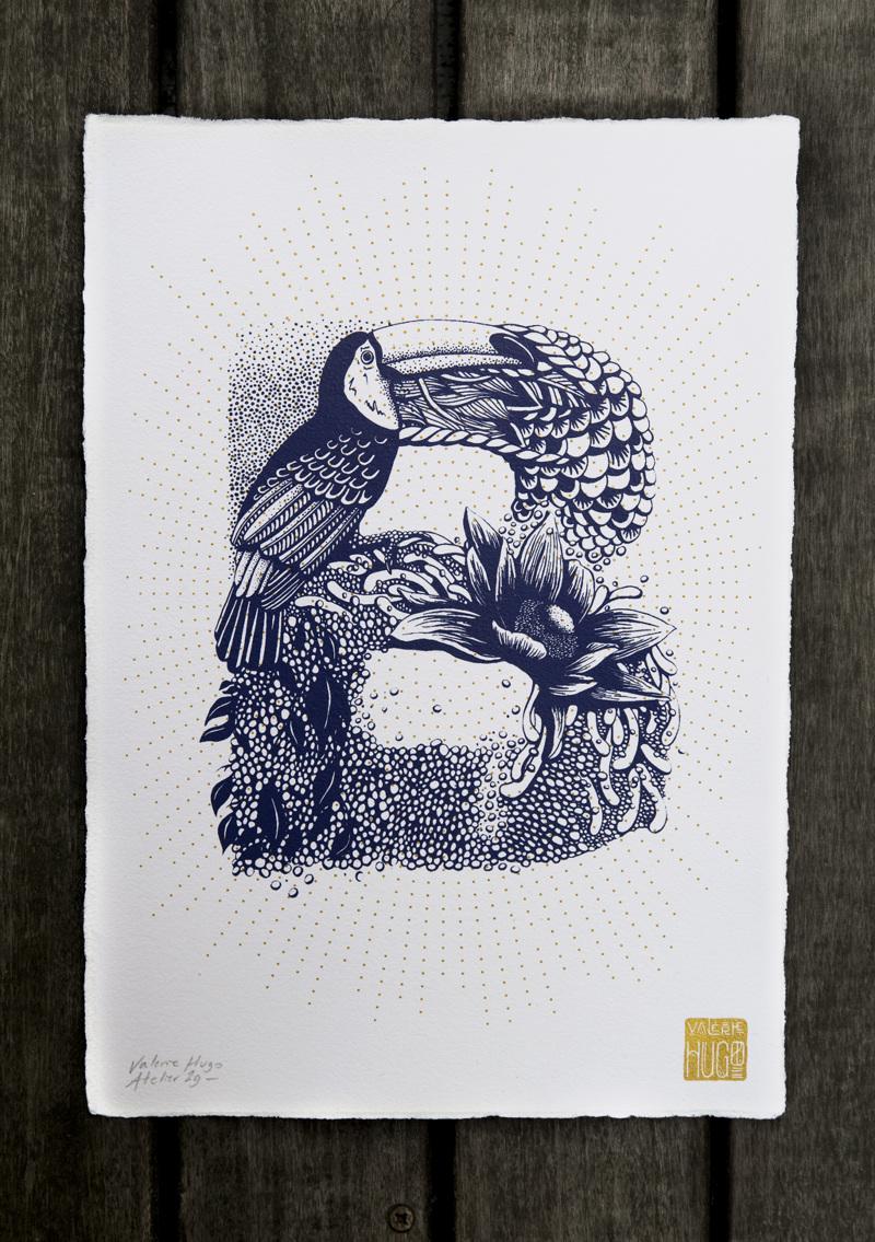 Alfabeto inspirado en la naturaleza - B