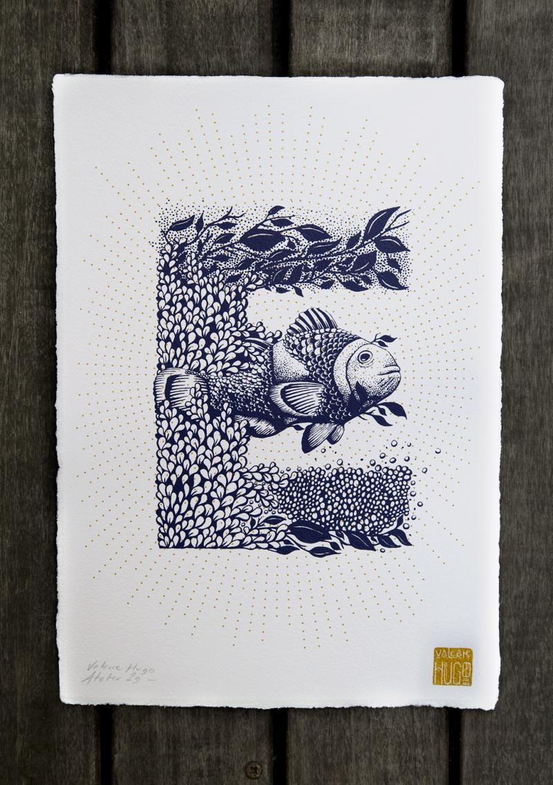 Alfabeto inspirado en la naturaleza - E
