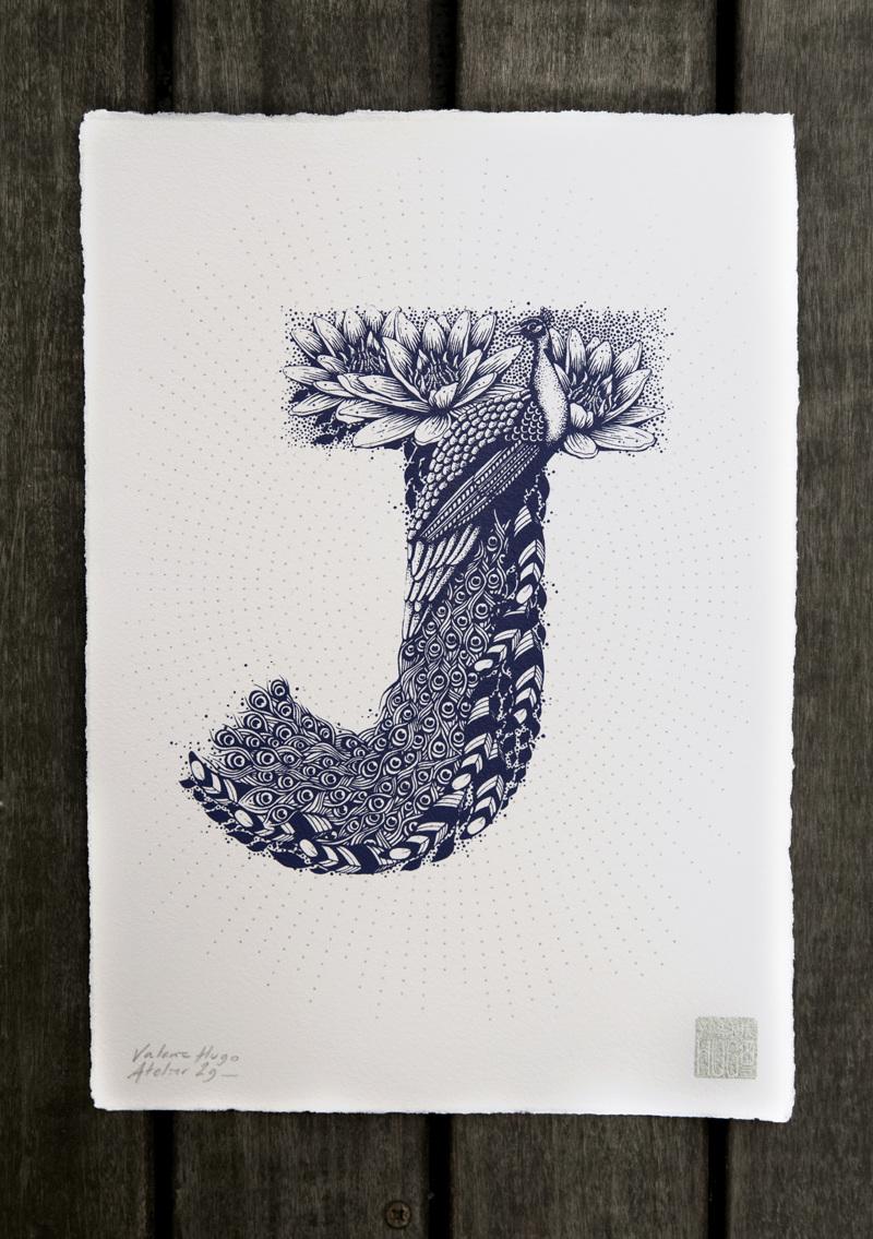 Alfabeto inspirado en la naturaleza - J
