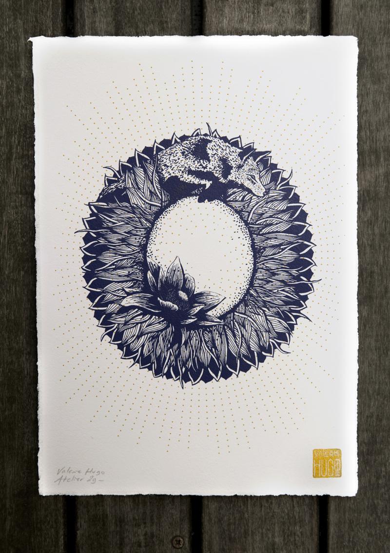 Alfabeto inspirado en la naturaleza - O