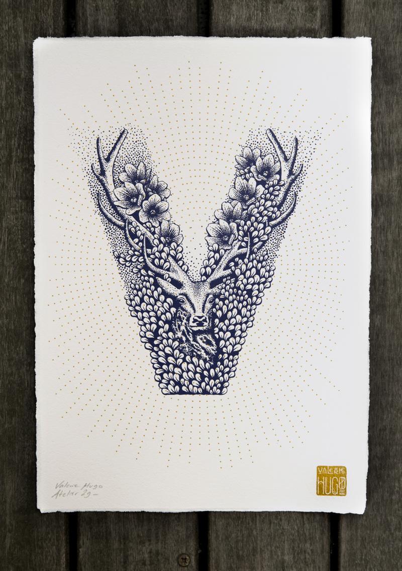 Alfabeto inspirado en la naturaleza - V